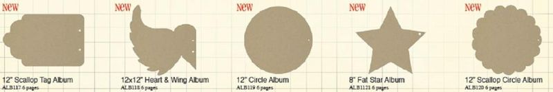 17 NEW Chipboard Albums