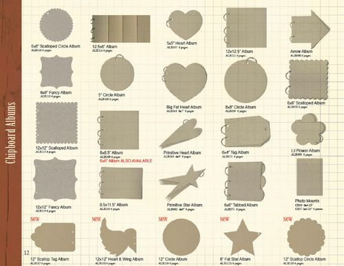 12 Chipboard Albums